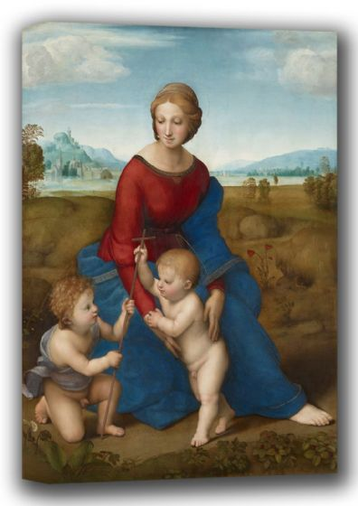 Raphael: Madonna in the Meadow. Fine Art Canvas. Sizes: A4/A3/A2/A1 (001939)